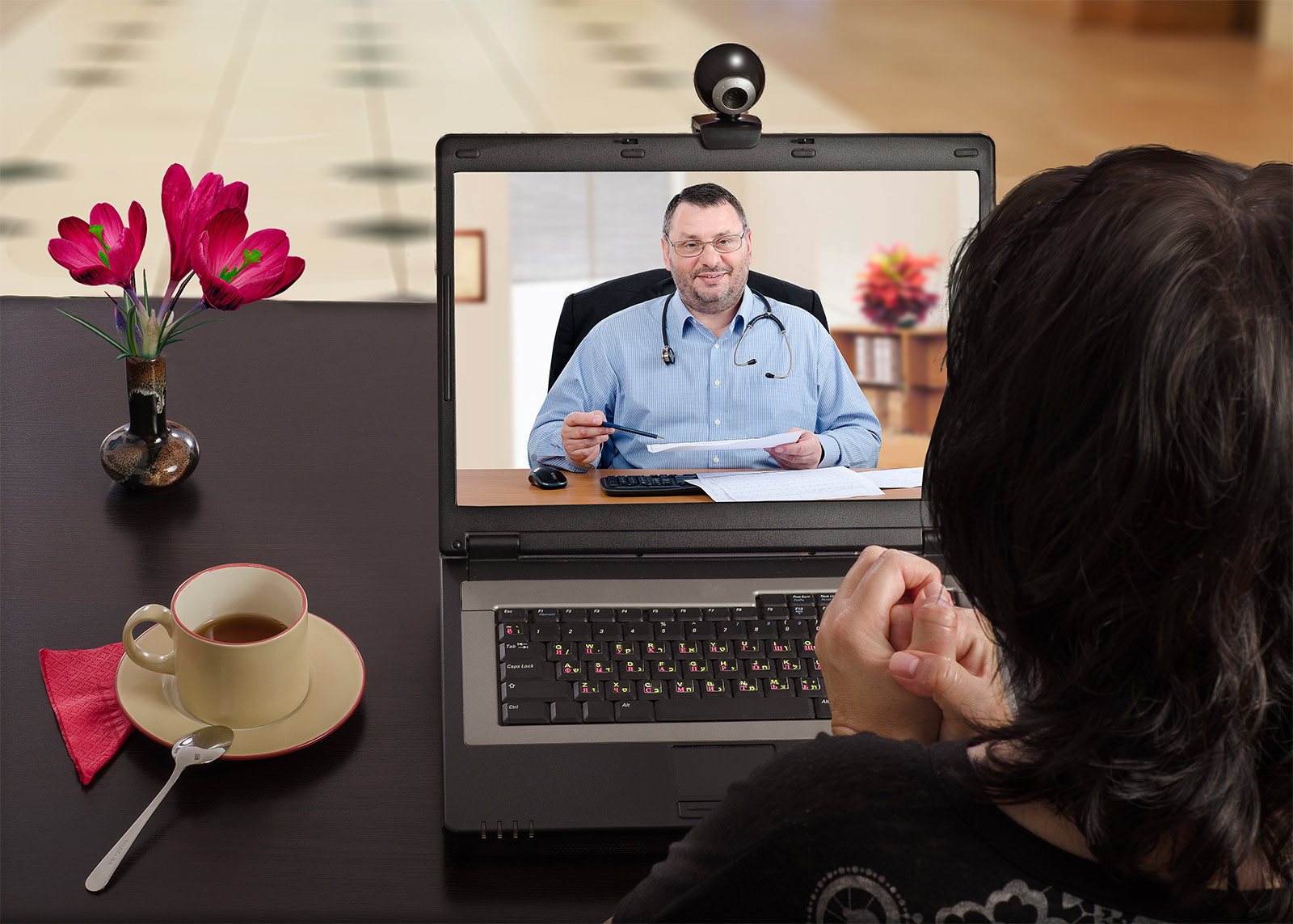 Patient Consulting Telehealth Doctor